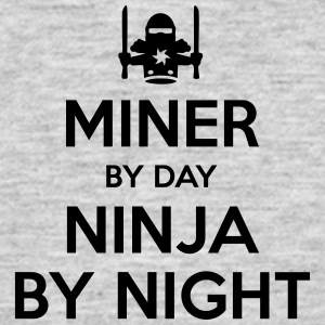 miner day ninja by night - Men's T-Shirt