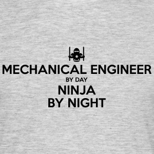 mechanical engineer day ninja by night - Men's T-Shirt