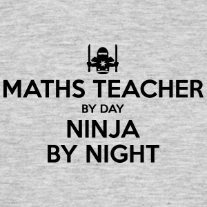 maths teacher day ninja by night - Men's T-Shirt