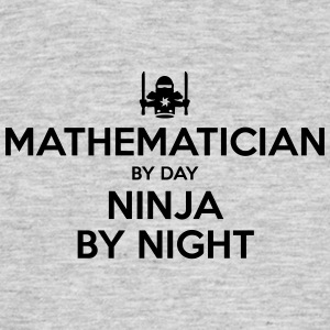 mathematician day ninja by night - Men's T-Shirt