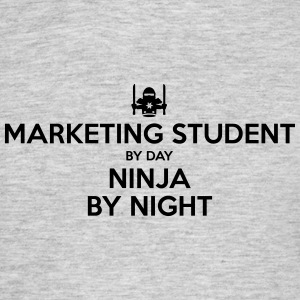 marketing student day ninja by night - Men's T-Shirt