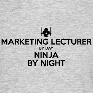 marketing lecturer day ninja by night - Men's T-Shirt