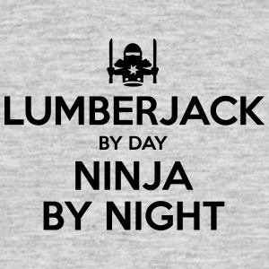 lumberjack day ninja by night - Men's T-Shirt