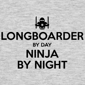 longboarder day ninja by night - Men's T-Shirt