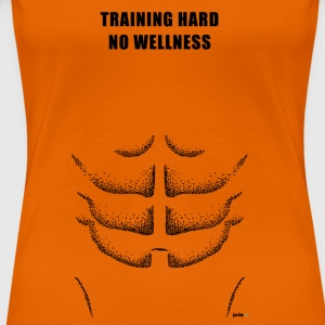 Training hard - Frauen Premium T-Shirt
