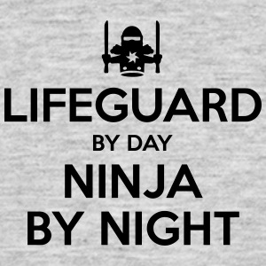 lifeguard day ninja by night - Men's T-Shirt