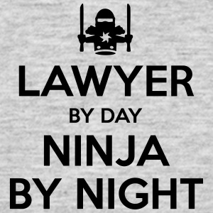 lawyer day ninja by night - Men's T-Shirt