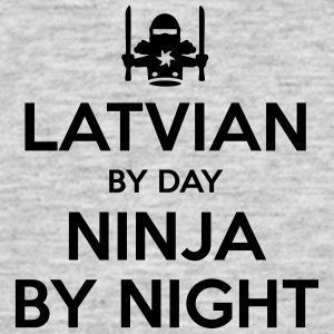 latvian day ninja by night - Men's T-Shirt