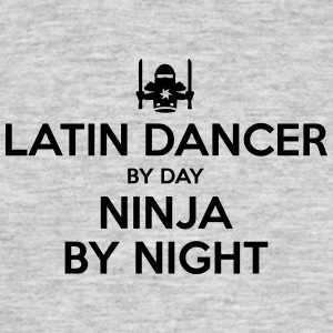 latin dancer day ninja by night - Men's T-Shirt