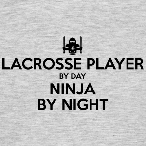 lacrosse player day ninja by night - Men's T-Shirt