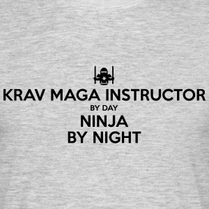 krav maga instructor day ninja by night - Men's T-Shirt