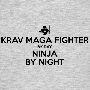 krav maga fighter day ninja by night - Men's T-Shirt