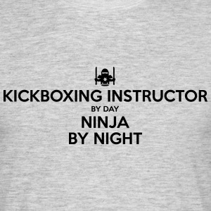 kickboxing instructor day ninja by night - Men's T-Shirt