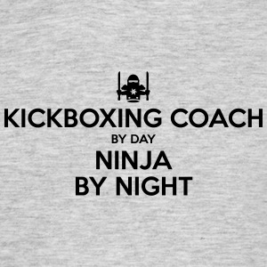 kickboxing coach day ninja by night - Men's T-Shirt