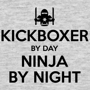 kickboxer day ninja by night - Men's T-Shirt