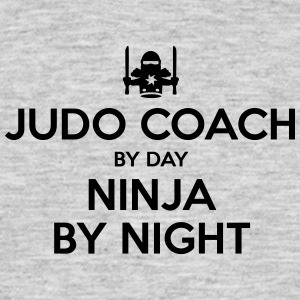 judo coach day ninja by night - Men's T-Shirt