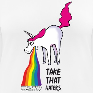 Unicorn vomiting rainbow - take that haters T-Shirts - Women's Breathable T-Shirt