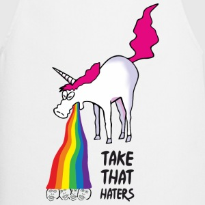 Unicorn vomiting rainbow - take that haters Delantales - Delantal de cocina
