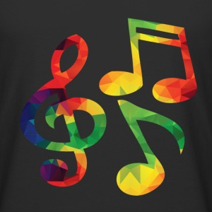 Colorful music notes - Men's Long Body Urban Tee