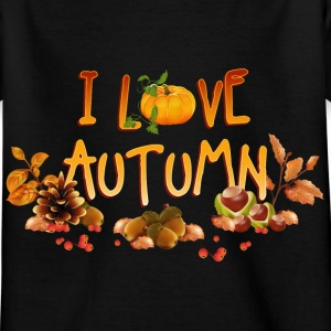 i_love_autumn_11_201601 T-Shirts - Kinder T-Shirt