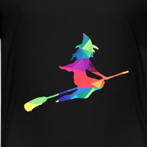 Colorful witch - Teenage Premium T-Shirt