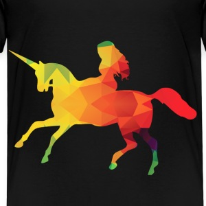 Fargerike Unicorn - Premium T-skjorte for barn