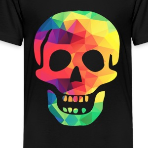 Bunter Totenkopf - Teenager Premium T-Shirt