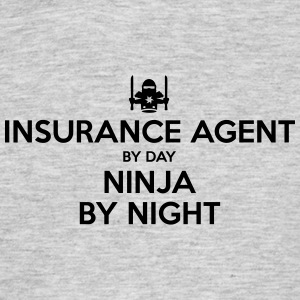 insurance agent day ninja by night - Men's T-Shirt