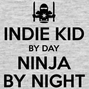 indie kid day ninja by night - Men's T-Shirt