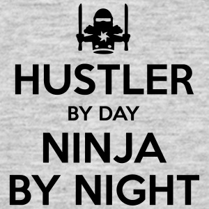 hustler day ninja by night - Men's T-Shirt