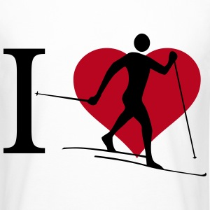 I love cross country skiing - Men's Long Body Urban Tee