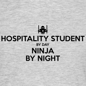 hospitality student day ninja by night - Men's T-Shirt