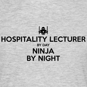hospitality lecturer day ninja by night - Men's T-Shirt