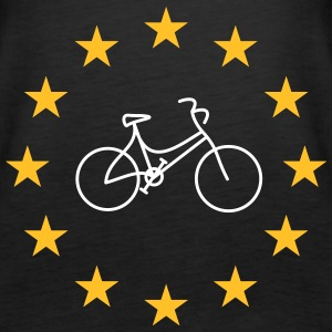 Lady's bike in the stars - Women's Premium Tank Top