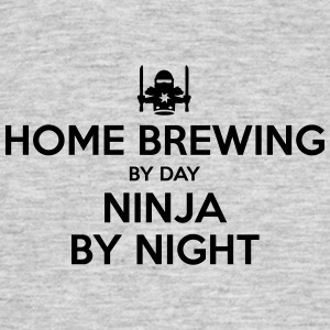 home brewing day ninja by night - Men's T-Shirt