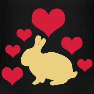 Bunny with 6 hearts - Teenage Premium T-Shirt