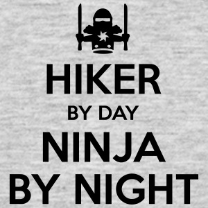 hiker day ninja by night - Men's T-Shirt