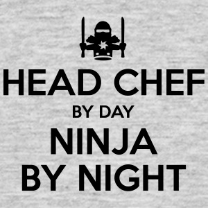 head chef day ninja by night - Men's T-Shirt