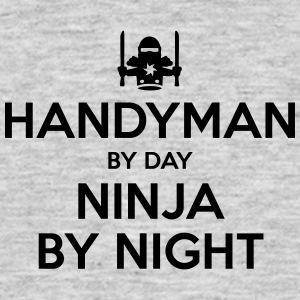 handyman day ninja by night - Men's T-Shirt