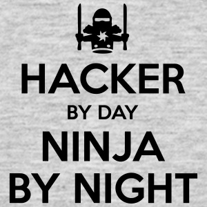 hacker day ninja by night - Men's T-Shirt