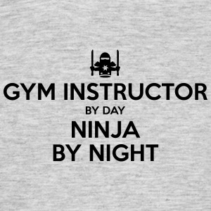 gym instructor day ninja by night - Men's T-Shirt