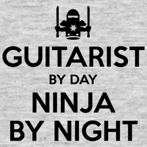 guitarist day ninja by night - Men's T-Shirt