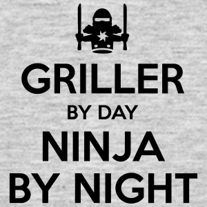 griller day ninja by night - Men's T-Shirt