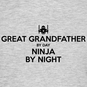 great grandfather day ninja by night - Men's T-Shirt
