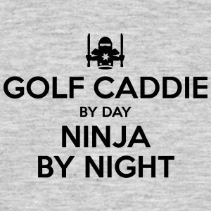 golf caddie day ninja by night - Men's T-Shirt