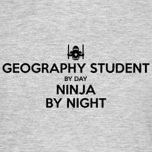 geography student day ninja by night - Men's T-Shirt
