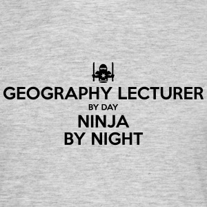 geography lecturer day ninja by night - Men's T-Shirt