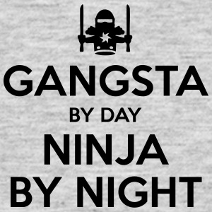 gangsta day ninja by night - Men's T-Shirt