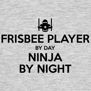 frisbee player day ninja by night - Men's T-Shirt