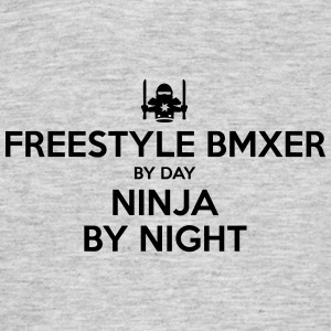 freestyle bmxer day ninja by night - Men's T-Shirt